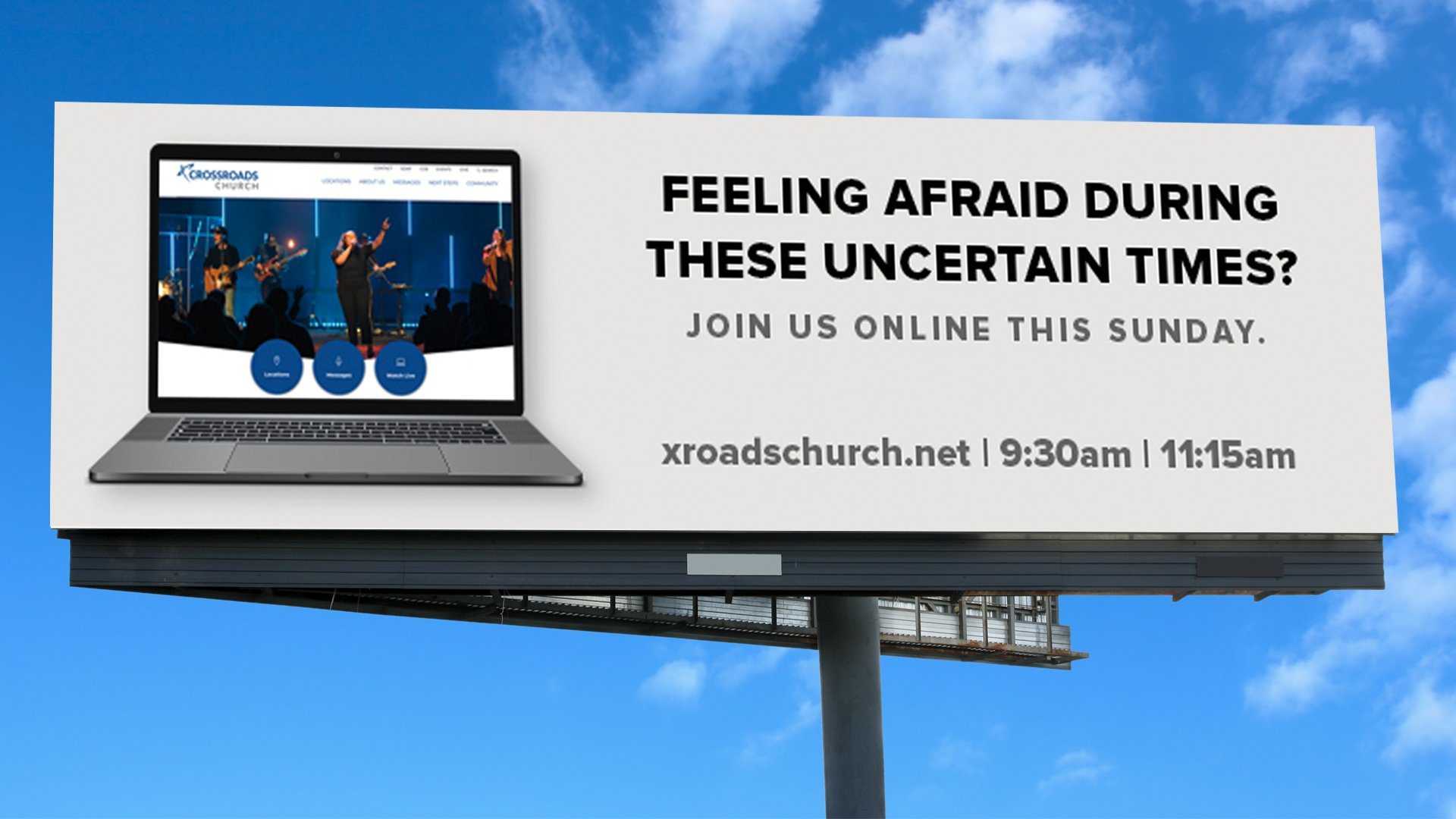 Online Church Billboard Design