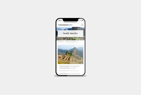 The International Wanderer Website Preview