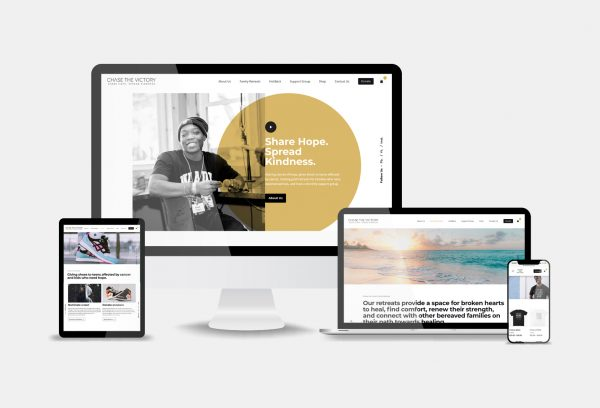 Chase the Victory Website Design
