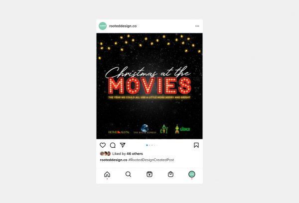 Christmas at the Movies Instagram Post
