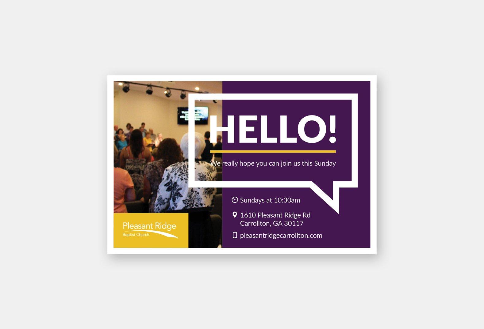 General Church Invite Card